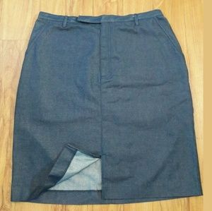 LIZ CLAIBORNE Blue Jean Denim Skirt Size 14P